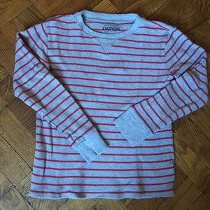 J CREW THERMAL STRIPED LONG SLEEVE TEE SIZE 10